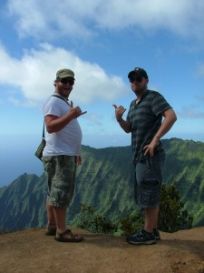 David burch and Gary Klos at waimea canyon