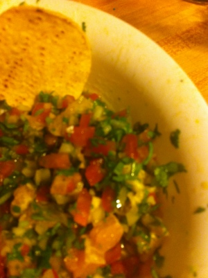 pico de gallo, pico, salsa, poblano orange salsa